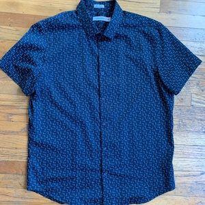 Calvin Klein Short Sleeve Button Up Shirt